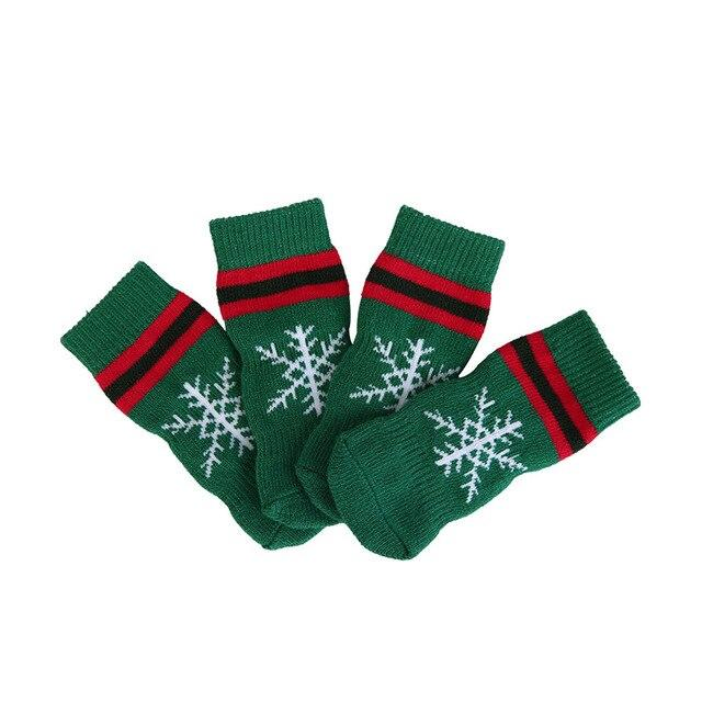 Christmas Theme Pet Socks Cat Clothing Pet Clever snowflake S