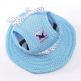 Classy Beach Hats for Pets Hats Pet Clever blue S