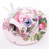 Classy Beach Hats for Pets Hats Pet Clever flower S