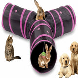 Collapsible Cat Tunnel 3 Way Include Ball Toy Cat Toys Pet Clever