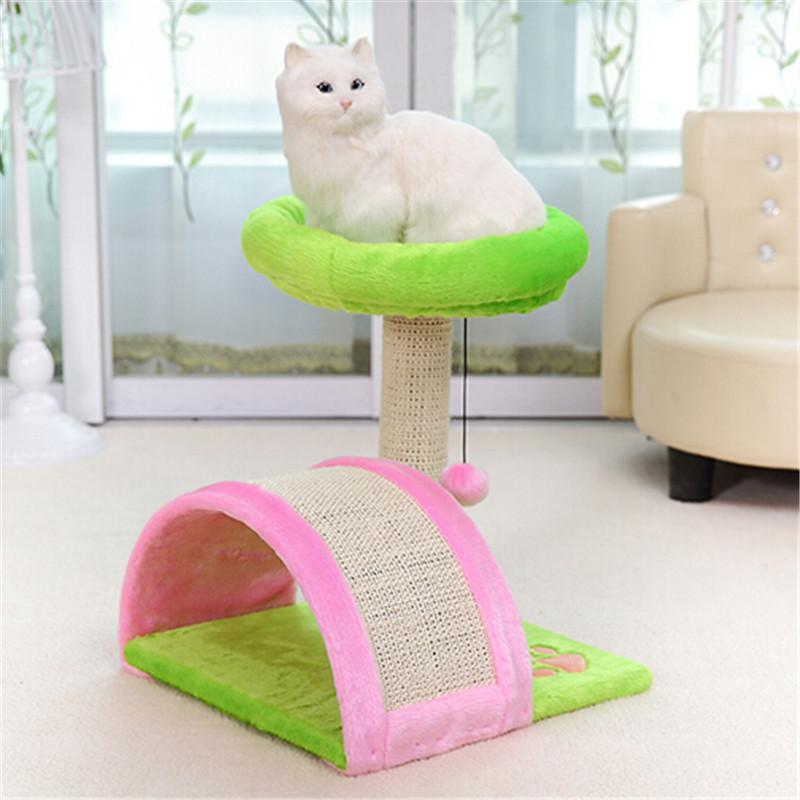 Colorful Cat Toy Scratching Wood Climbing Frame Furniture Cat Trees & Scratching Posts Pet Clever
