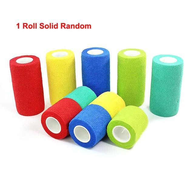 Colorful Elastic Pet Bandage Medical Pet Clever Solid Color Design S
