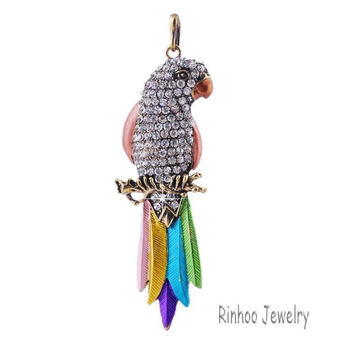 Colorful Exquisite Bird Parrot Pendants Other Pets Design Jewelry Pet Clever 1