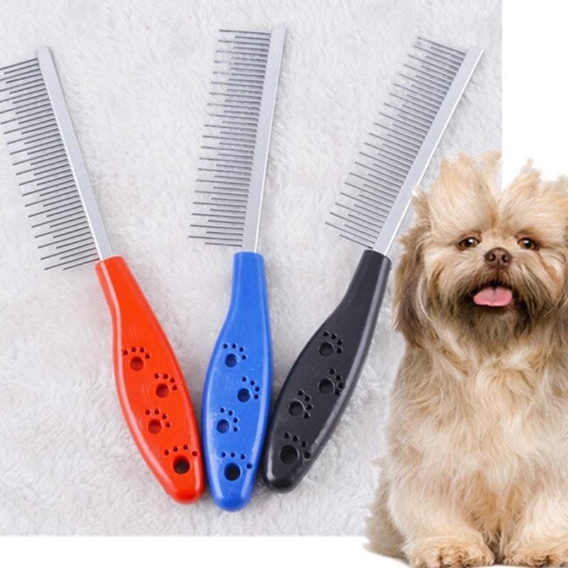 Colorful Pet Stainless Steel Grooming Comb Comb Pet Clever