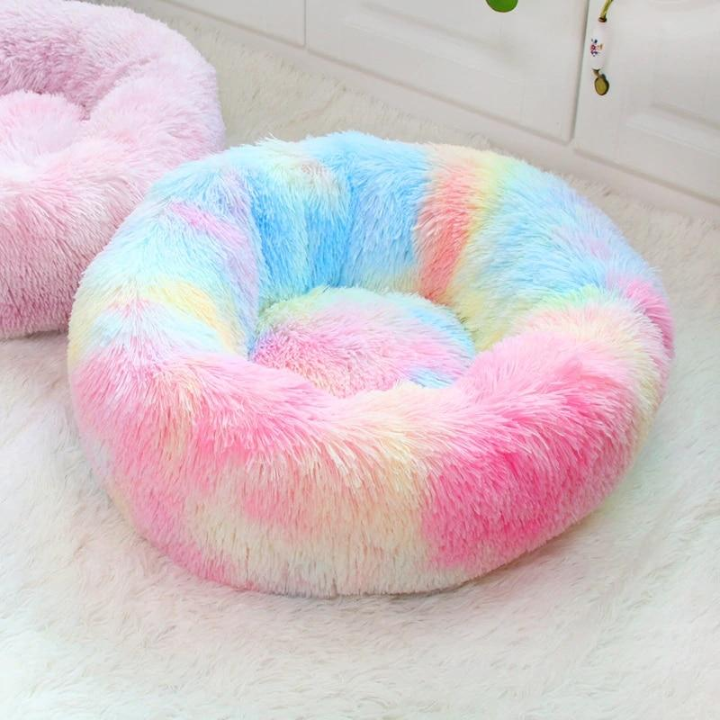 Colorful Round Pet Bed Dog Beds & Blankets Pet Clever L