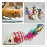 Colorful Sisal Rope Mouse-Chew Toy For Kitten Cat Toys Pet Clever