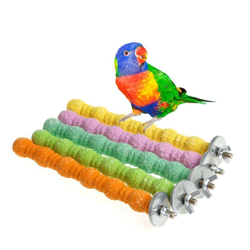 Colorful Standing Bird Platform Clim Support Standing Birds Pet Clever