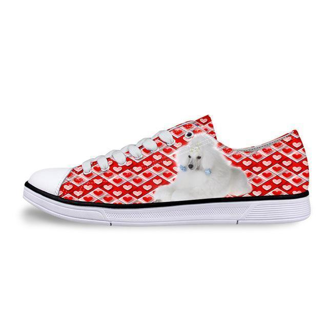 Cool Random Dogs Printed Low Top Vintage Shoes Dog Design Footwear Pet Clever 1 5