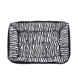 Cozy Zebra-Pattern Dog Sofa Mat Bed Dog Beds & Blankets Pet Clever