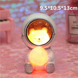 Creative Animal Astronauts Night Light Other Pets Design Accessories Pet Clever Bear L