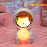 Creative Animal Astronauts Night Light Other Pets Design Accessories Pet Clever Bear S