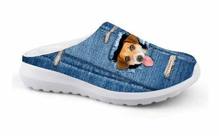 Cute 3D Dog Printing Air Mesh Beach Shoes Dog Design Footwear Pet Clever 1