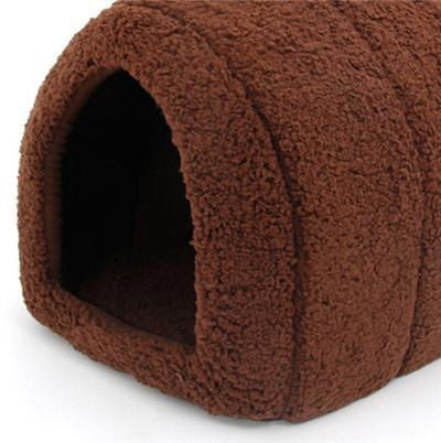 Cute Cat Indoor and Outdoor Cat Warmer Nest House Bed Cat Beds & Baskets Pet Clever Coffee
