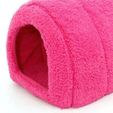 Cute Cat Indoor and Outdoor Cat Warmer Nest House Bed Cat Beds & Baskets Pet Clever Rose Red