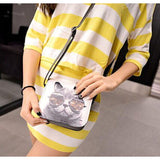 Cute Cat Leather Shoulder Handbags Cat Design Bags Pet Clever
