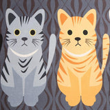 Cute Cat Print Carpets with Anti-Slip Tapete Home Decor Cats Pet Clever