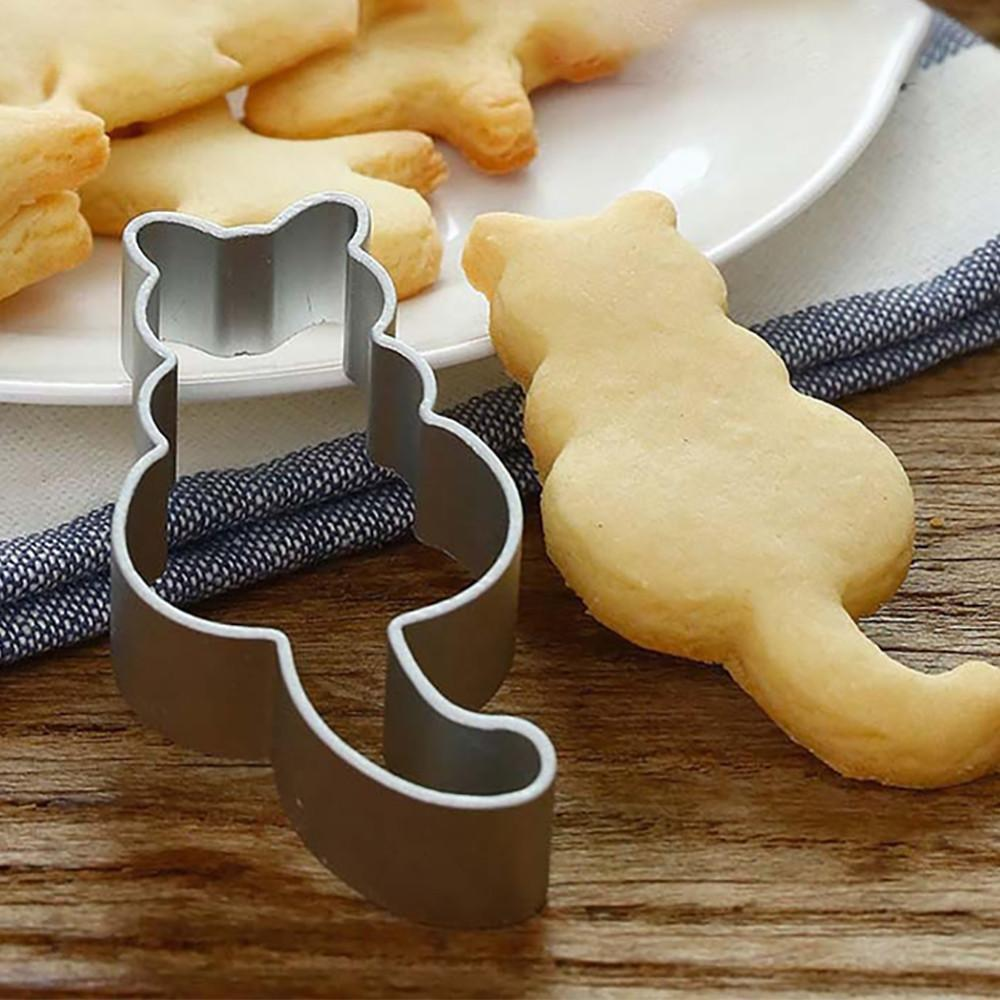 Cute Cat Shaped Cookie Cutter Home Decor Cats Pet Clever