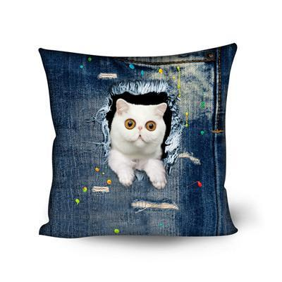 Cute Cat Shaped Decorative Pillows for Sofa Cat Design Pillows Pet Clever 1
