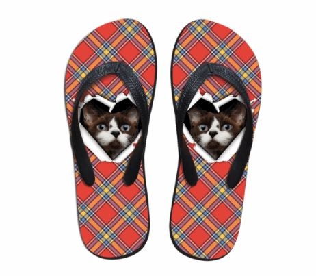 Cute Cat Slip-on Round Toe Comfortable Slipper Cat Design Footwear Pet Clever 1
