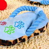 Cute Chewable Squeaky Slipper Shape Puppy Toy Dog Toys Sport & Training Pet Clever Blue