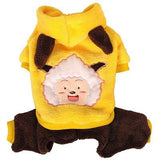 Cute Costplay Fashion Dog Clothes Dog Clothing Pet Clever yellow XS