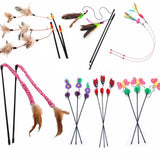 Cute Design Feather Teaser Cat Toy Cat Toys Pet Clever 5Pcs