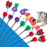 Cute Design Feather Teaser Cat Toy Cat Toys Pet Clever