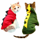 Cute Dinosaur Style Pet Costume Attire Cat Clothing Pet Clever