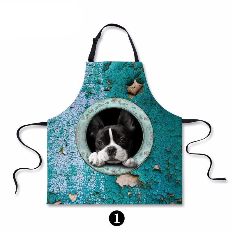 Cute Dogs Printed Kitchen Protective Apron Dog Design Accessories Pet Clever 1