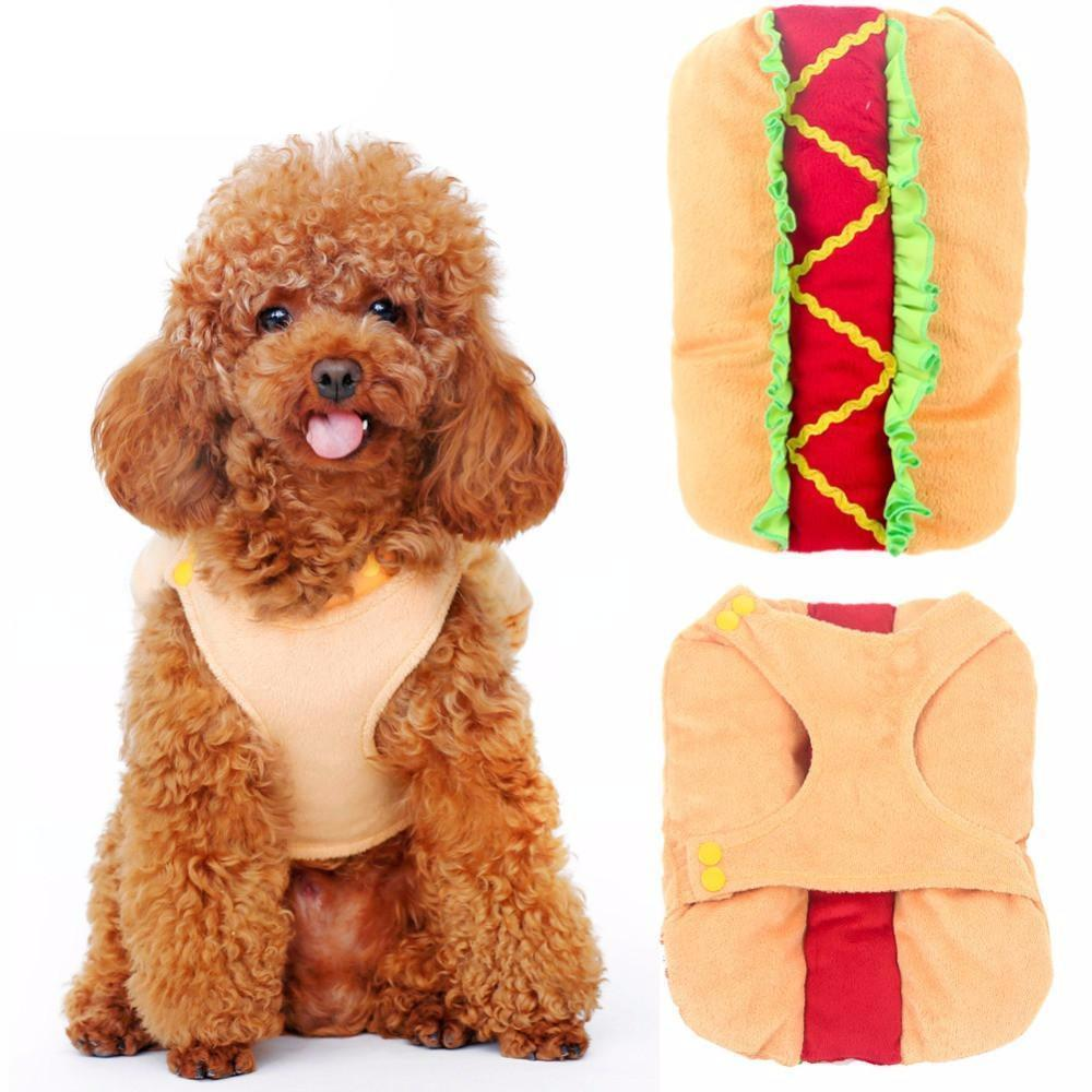 Cute Hotdog Design Dog Clothes Dog Clothing Pet Clever