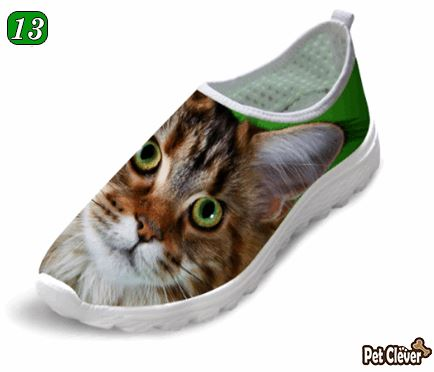 Cute Orange Cat Printing Air Mesh Shoes Cat Design Footwear Pet Clever US 5 - EU35 -UK3