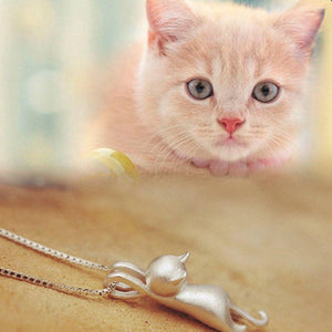 Cute Pendants Cat Necklace Cat Design Jewelry Pet Clever