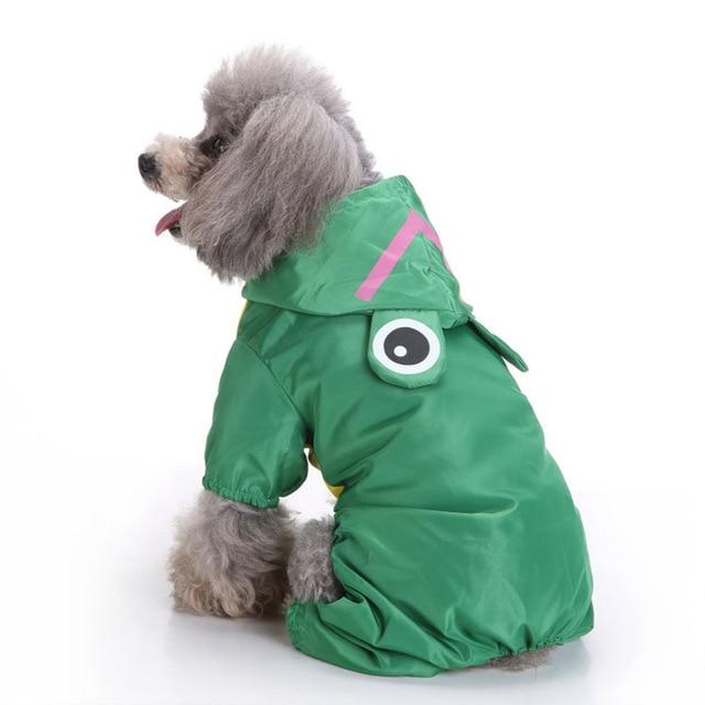 Cute Pet Raincoat Cat Clothing Pet Clever Green XS