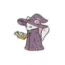Cute Sorcerer Cat Brooch