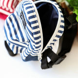 Cute Striped Pet Travel Backpack with Harness Leash Dog Harness Pet Clever Blue S