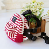 Cute Striped Pet Travel Backpack with Harness Leash Dog Harness Pet Clever Red S