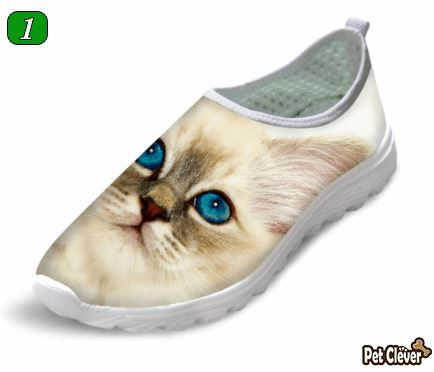 Cute Style Cat Printing Air Mesh Shoes Cat Design Footwear Pet Clever Desgin 1