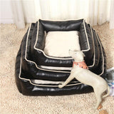 Detachable Waterproof House Bed Cushion Cat Beds & Baskets Pet Clever Black S