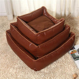Detachable Waterproof House Bed Cushion Cat Beds & Baskets Pet Clever Brown S