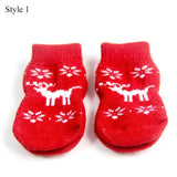 Dog Christmas Socks Cat Clothing Pet Clever style1 S