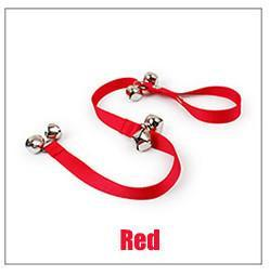 Dog Door Bell Rope - Go Out Alarm or Scratching Doors Dog Toys Sport & Training Pet Clever Red