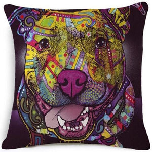 Dog Pillow Cover Pop Style Dog Design Pillows Pet Clever