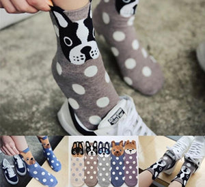 Dog Print Cute Socks Dog Design Accessories Pet Clever