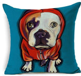 Dog Printed Linen Pillow Cover Dog Design Pillows Pet Clever N