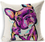 Dog Printed Linen Pillow Cover Dog Design Pillows Pet Clever M