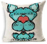 Dog Printed Linen Pillow Cover Dog Design Pillows Pet Clever S