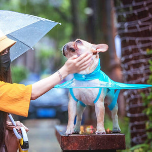 Dog Raincoat Umbrella Cover Clothes Pet Clever L