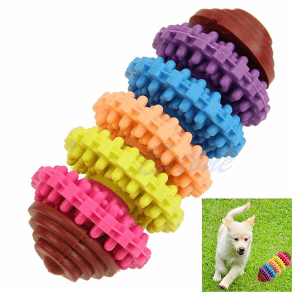 Dog Rubber Dental Teething Chew Toy Dog Care & Grooming Pet Clever 5 Gears