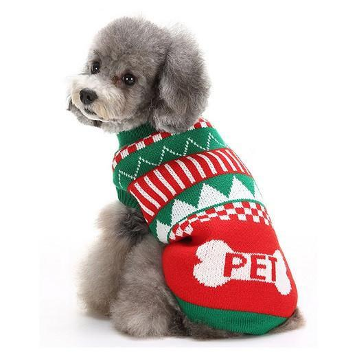 Dog Sweater Clothes For Holiday Times Dog Clothing Pet Clever Green L