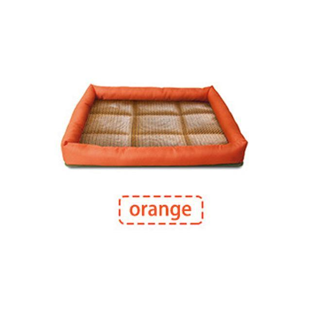 Dogs Cooling Mat with Free Pillow Dog Beds & Blankets Pet Clever Orange S
